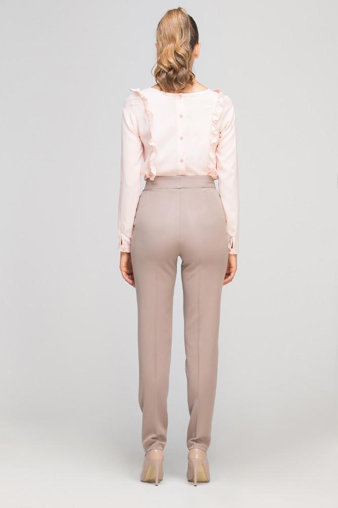 CM3353 Eleganckie spodnie w kant - beżowe