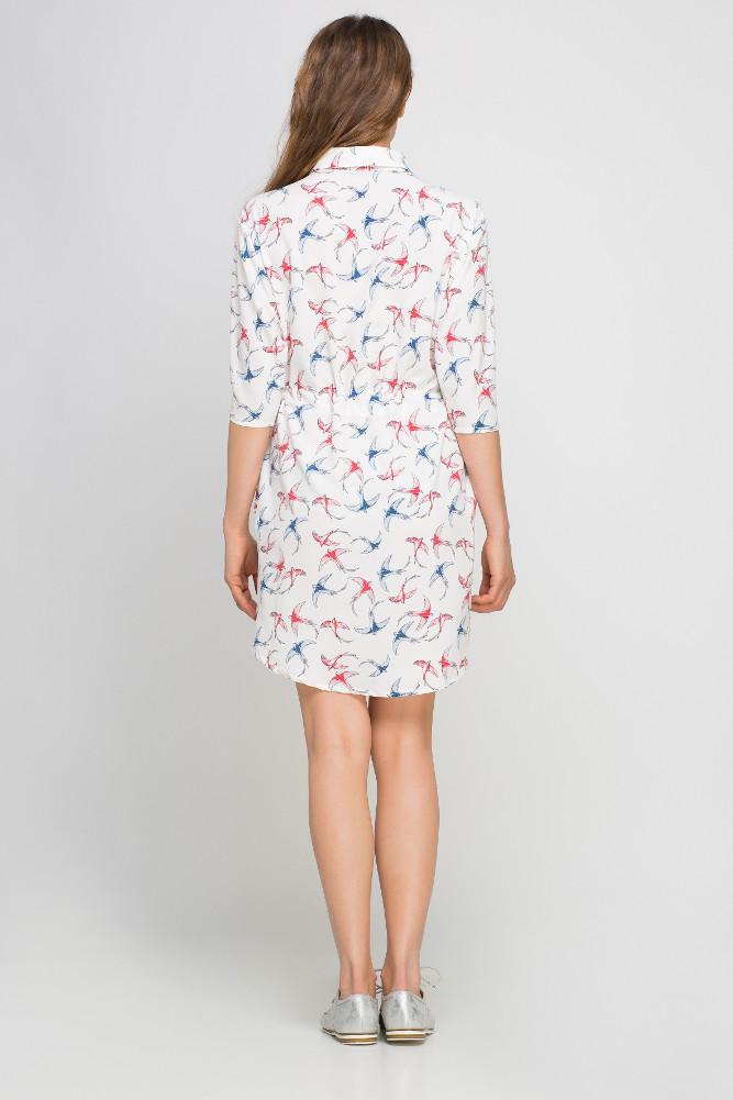CM3358 Koszulowa sukienka szmizjerka - ecru