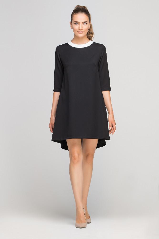 CM3364 Asymetryczna sukienka mini - czarna