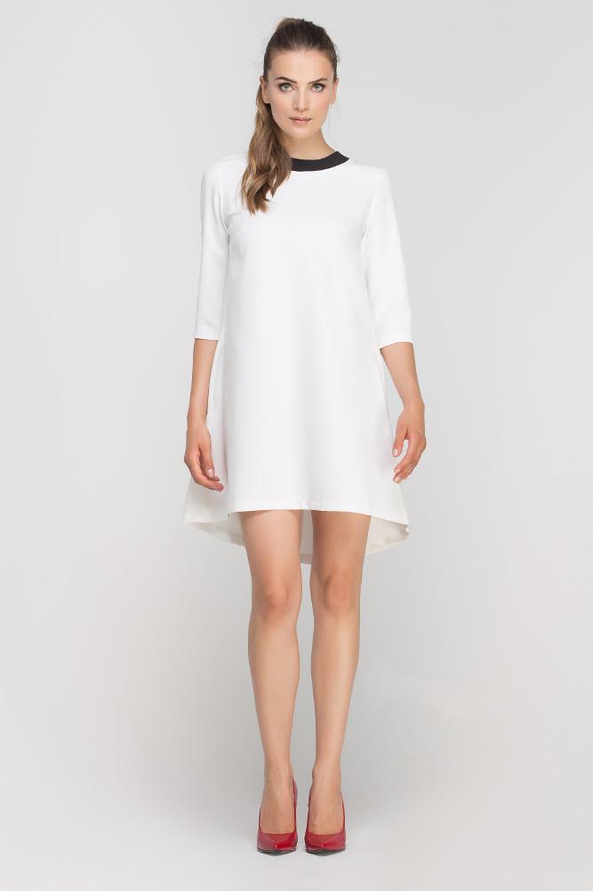CM3364 Asymetryczna sukienka mini - ecru