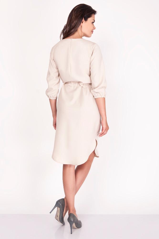 CM3374 Sportowa sukienka midi - beżowa