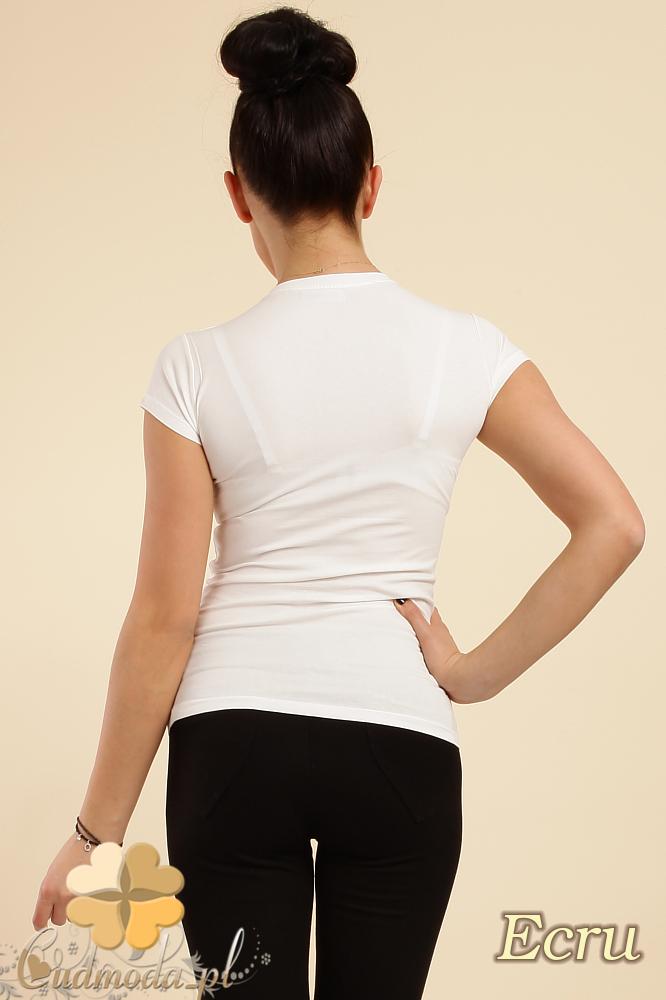 CM0012 Gładka bluzka z krótkim rękawem - ecru
