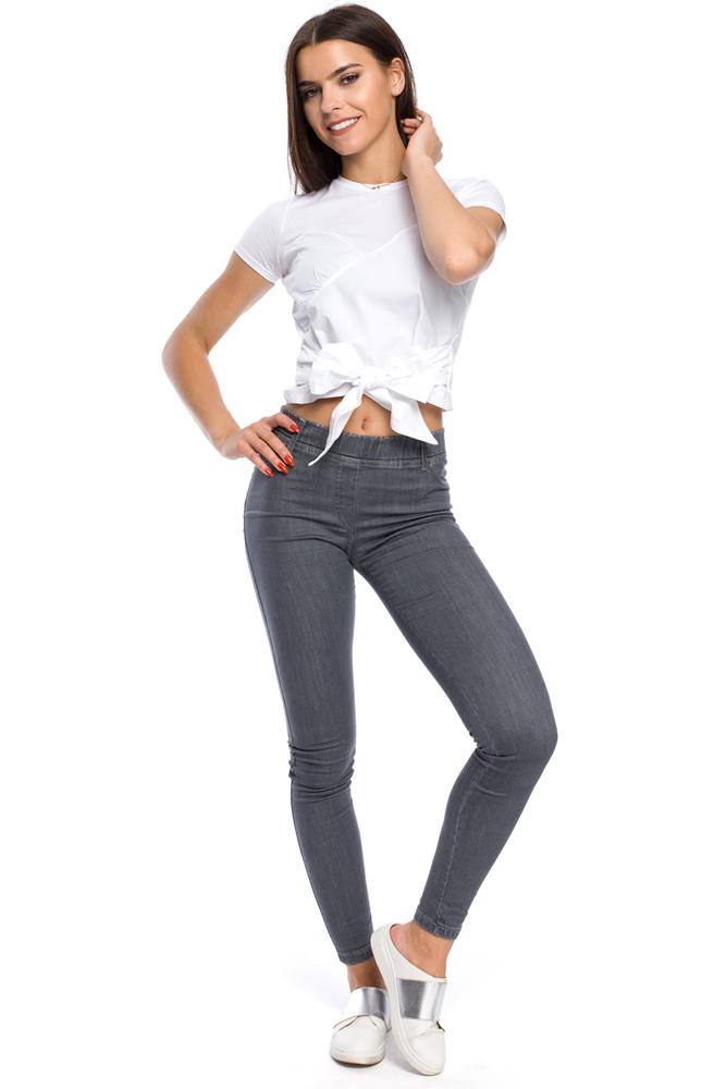 CM3162 Elastyczne kobiece legginsy jeansowe