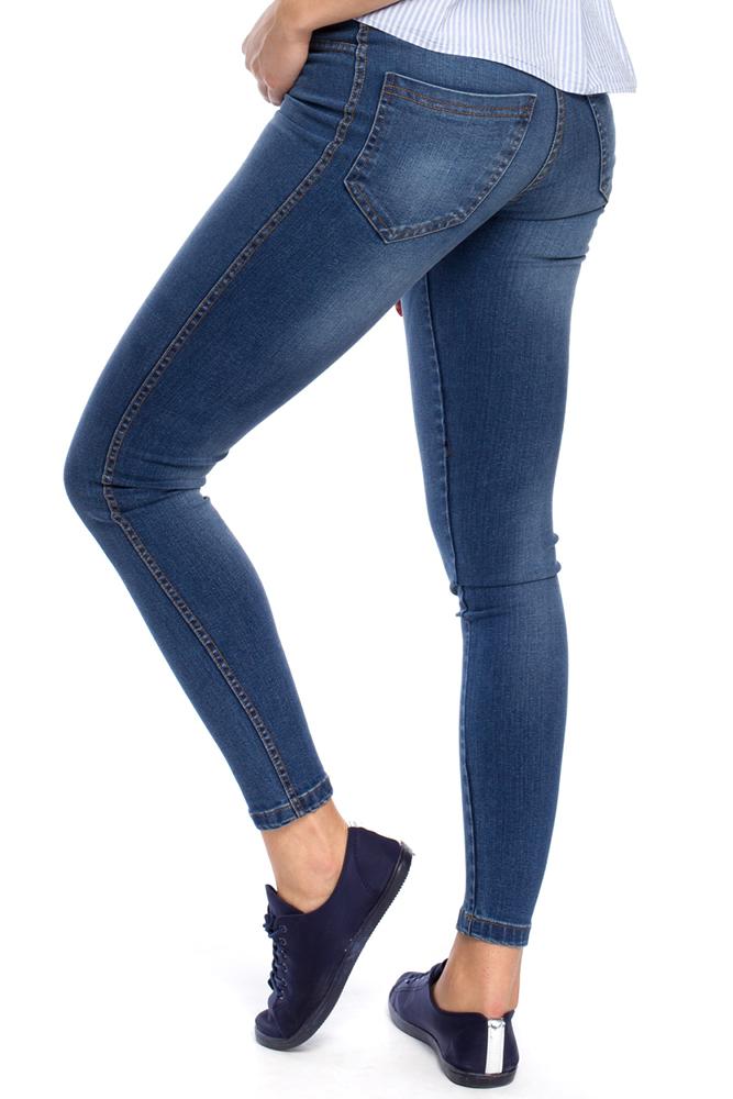 CM3164 Eleganckie jeansowe spodnie z kieszeniami