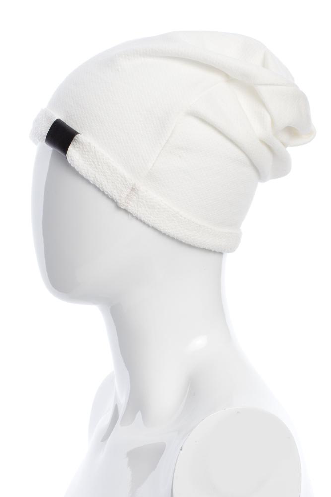 CM2075 Lekka bawełniana czapka zimowa - ecru 2