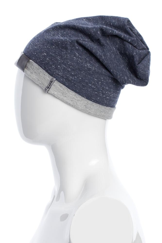 CM2075 Lekka bawełniana czapka zimowa - granatowy melanż