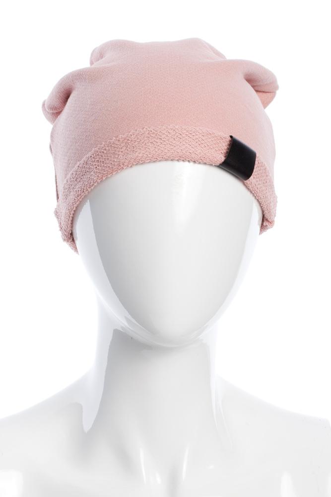 CM2075 Lekka bawełniana czapka zimowa - pudrowa 2