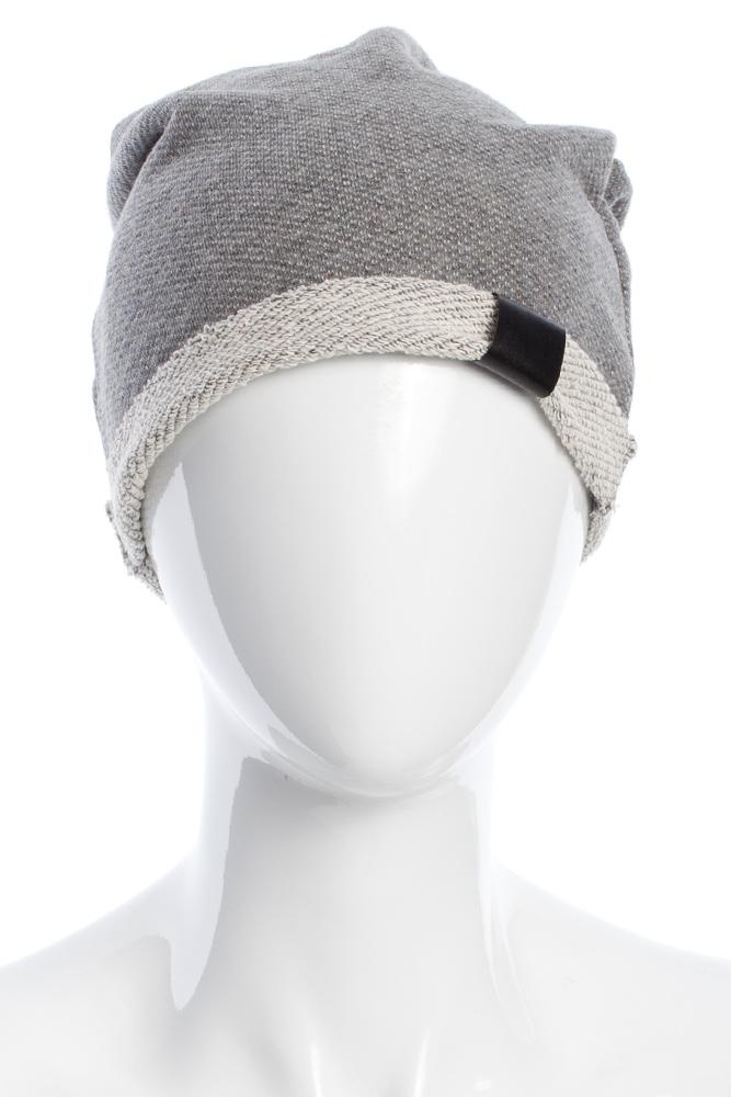 CM2075 Lekka bawełniana czapka zimowa - szara 2