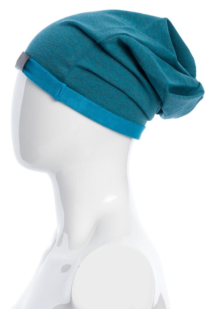 CM2075 Lekka bawełniana czapka zimowa - szmaragdowa