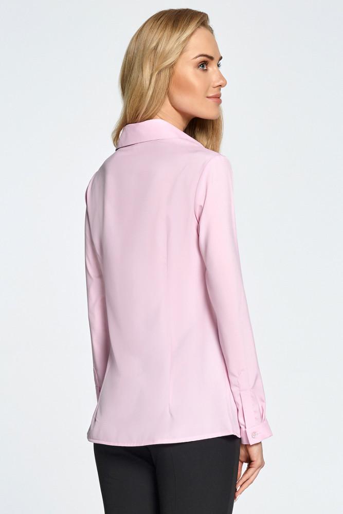 CM3449 Koszula z cięciami z przodu - różowa