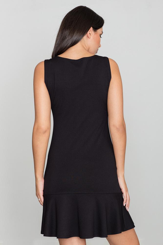 CM3469 Dopasowana sukienka bez rękawów - czarna