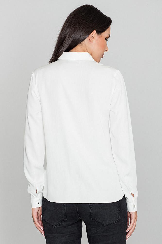 CM3474 Klasyczna wiskozowa koszula - ecru