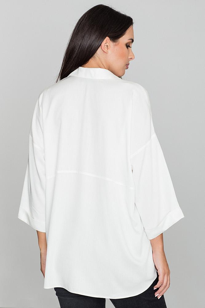 CM3476 Luźna koszula oversize - ecru