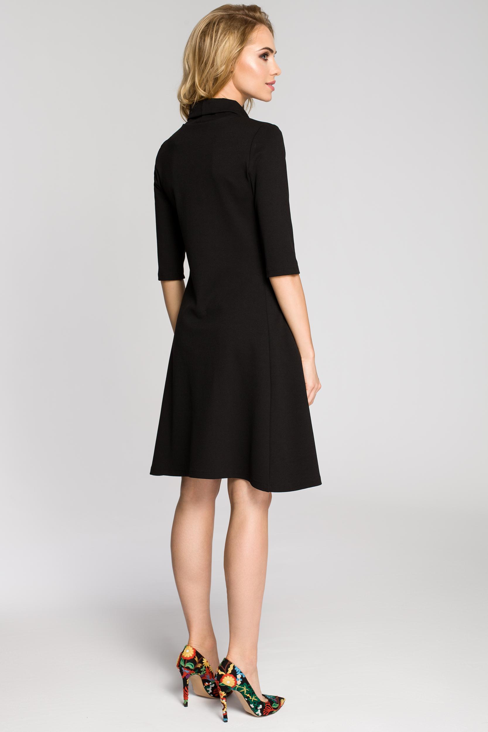 d96b145643 CM2685 Zwiewna rozkloszowana sukienka midi - czarna CM2685 Zwiewna  rozkloszowana sukienka midi - czarna ...