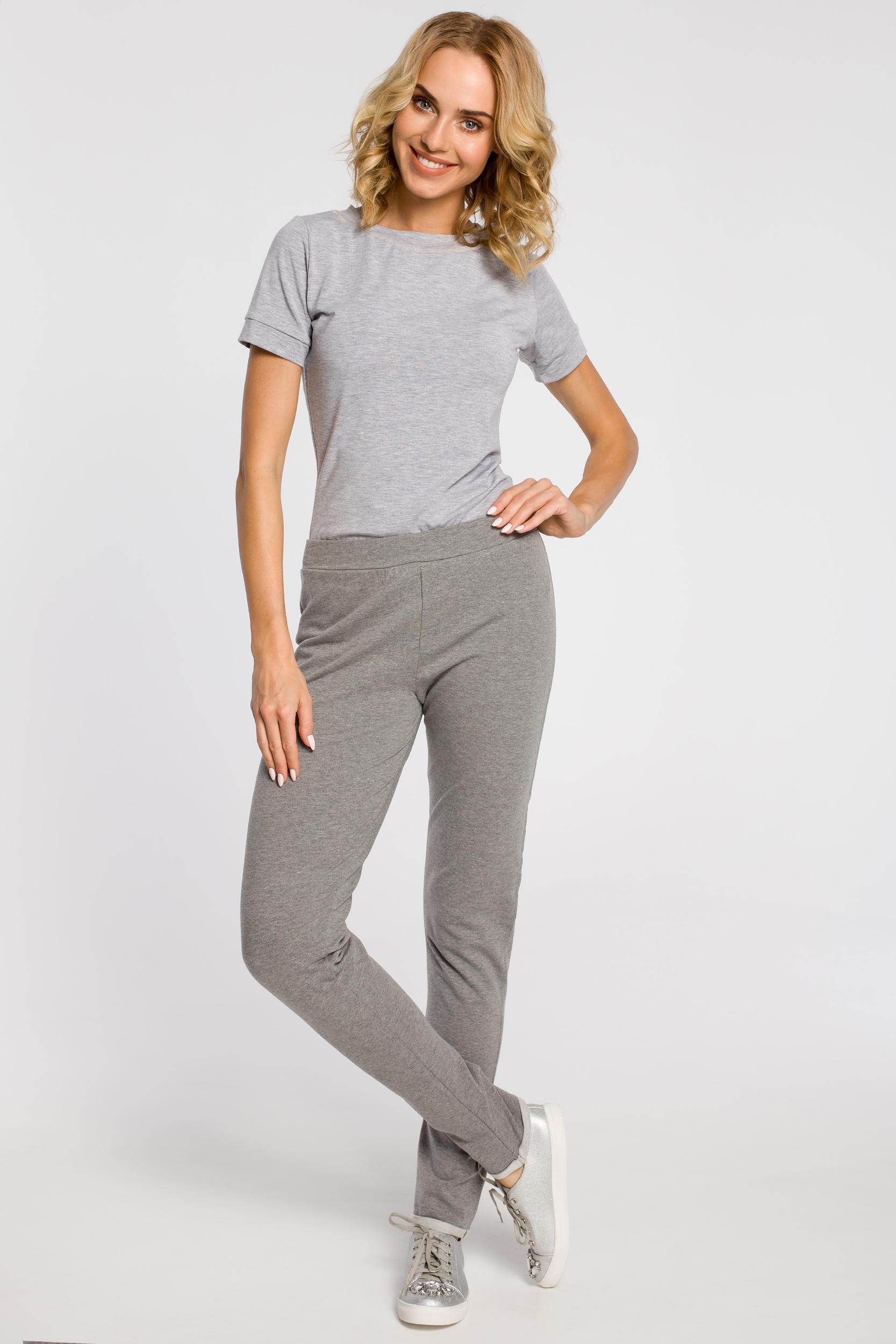 CM0358 Dresowe spodnie damskie - szare