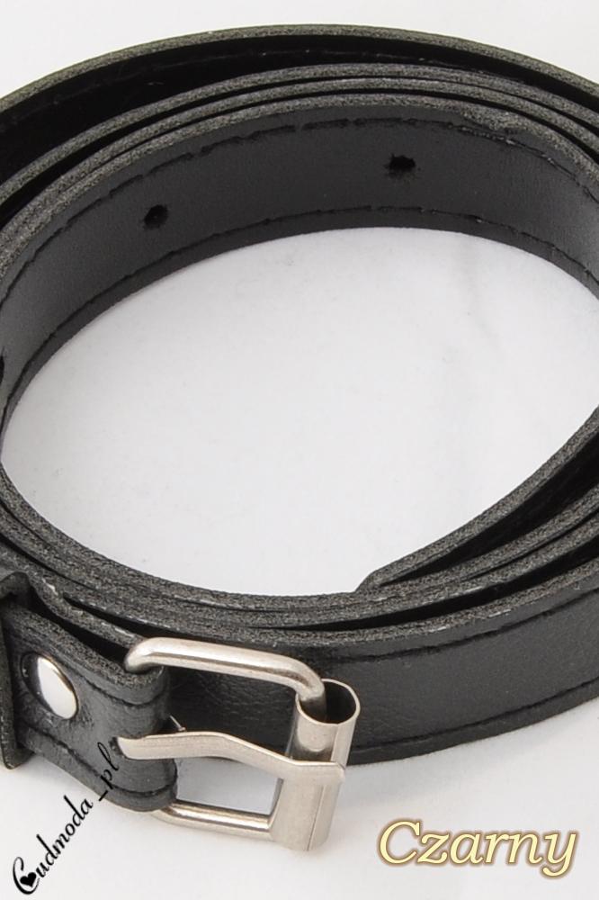 CM0190 Elegancki pasek z ekoskóry  - czarny