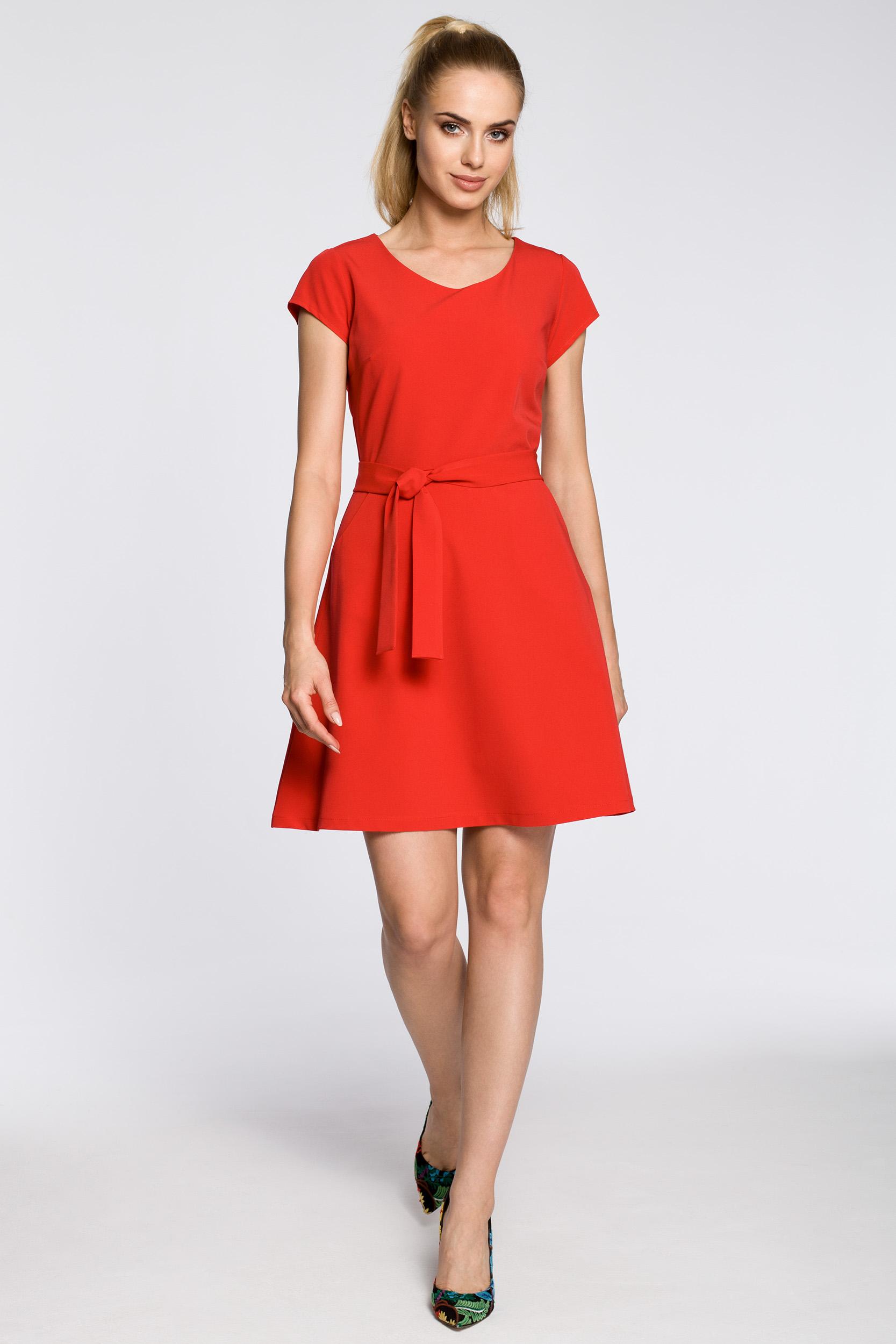 CM2461 Klasyczna szmizjerka na wesele - czerwona