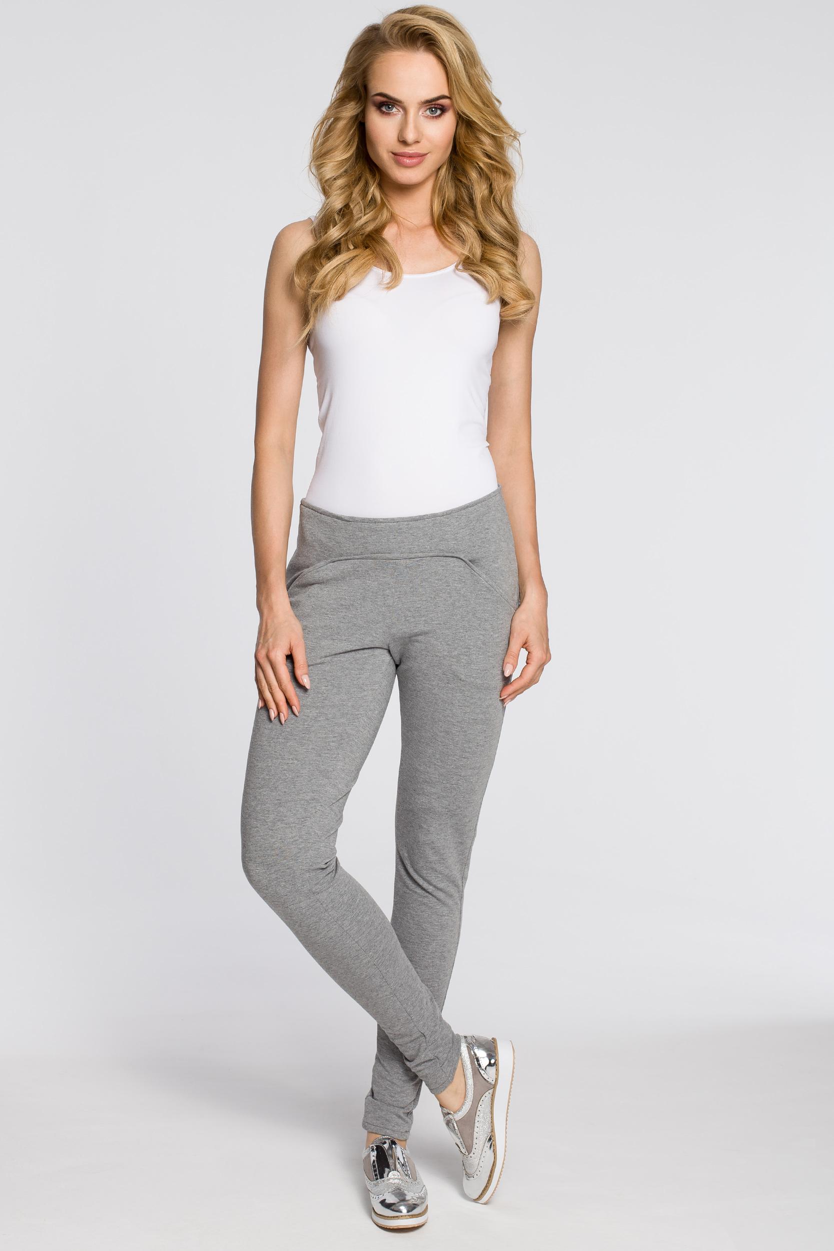 CM2046 Stylowe dresowe spodnie damskie - szare
