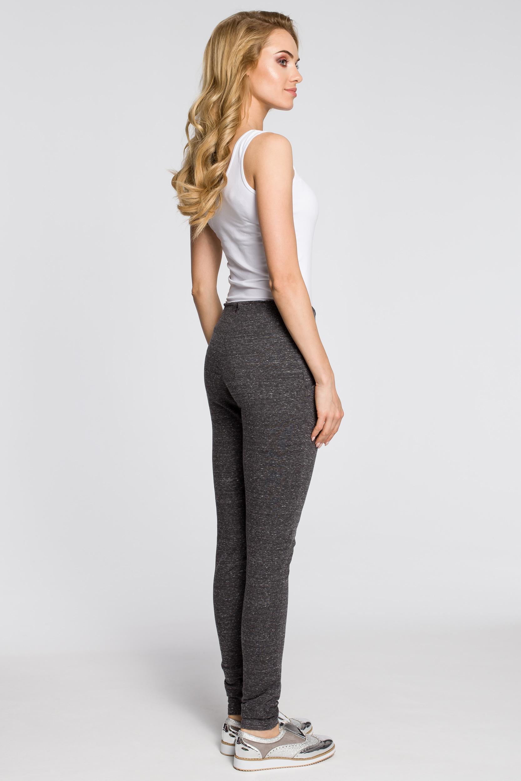 CM2046 Stylowe dresowe spodnie damskie - grafitowe