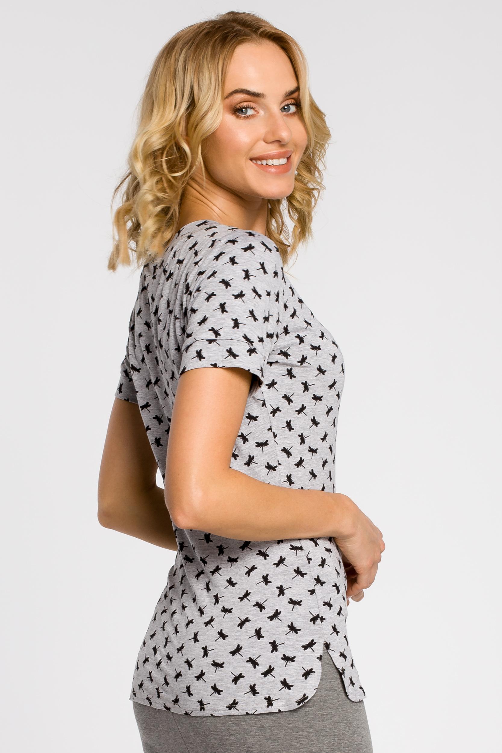 CM1558 Klasyczna koszulka damska z krótkim rękawem - model 2