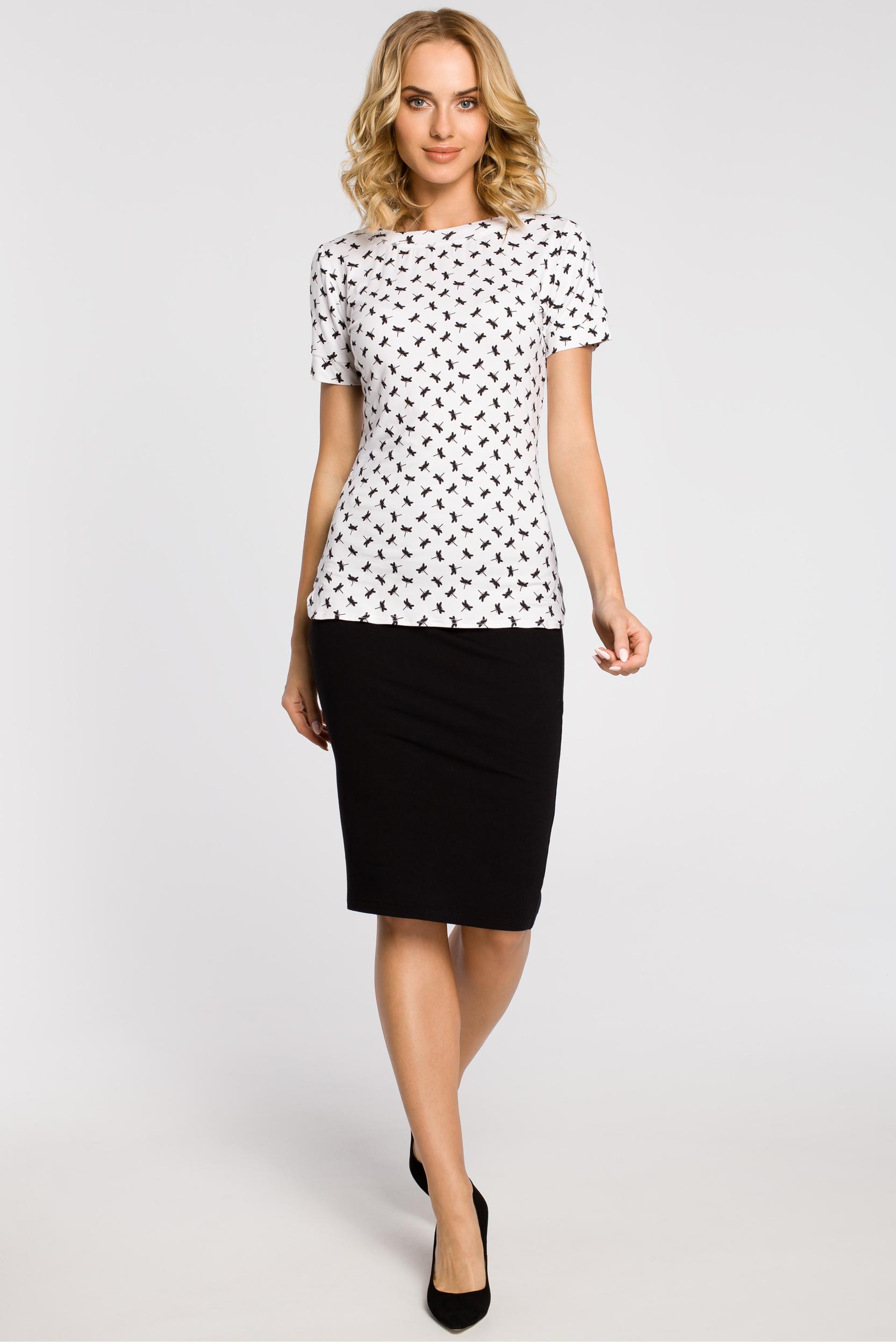 CM1558 Klasyczna koszulka damska z krótkim rękawem - model 1