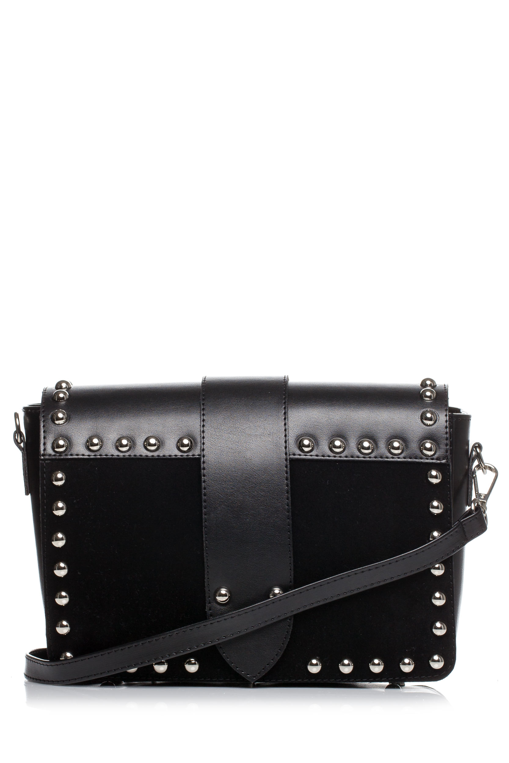 CM3575 Damska torebka z ozdobnymi nitami - czarna