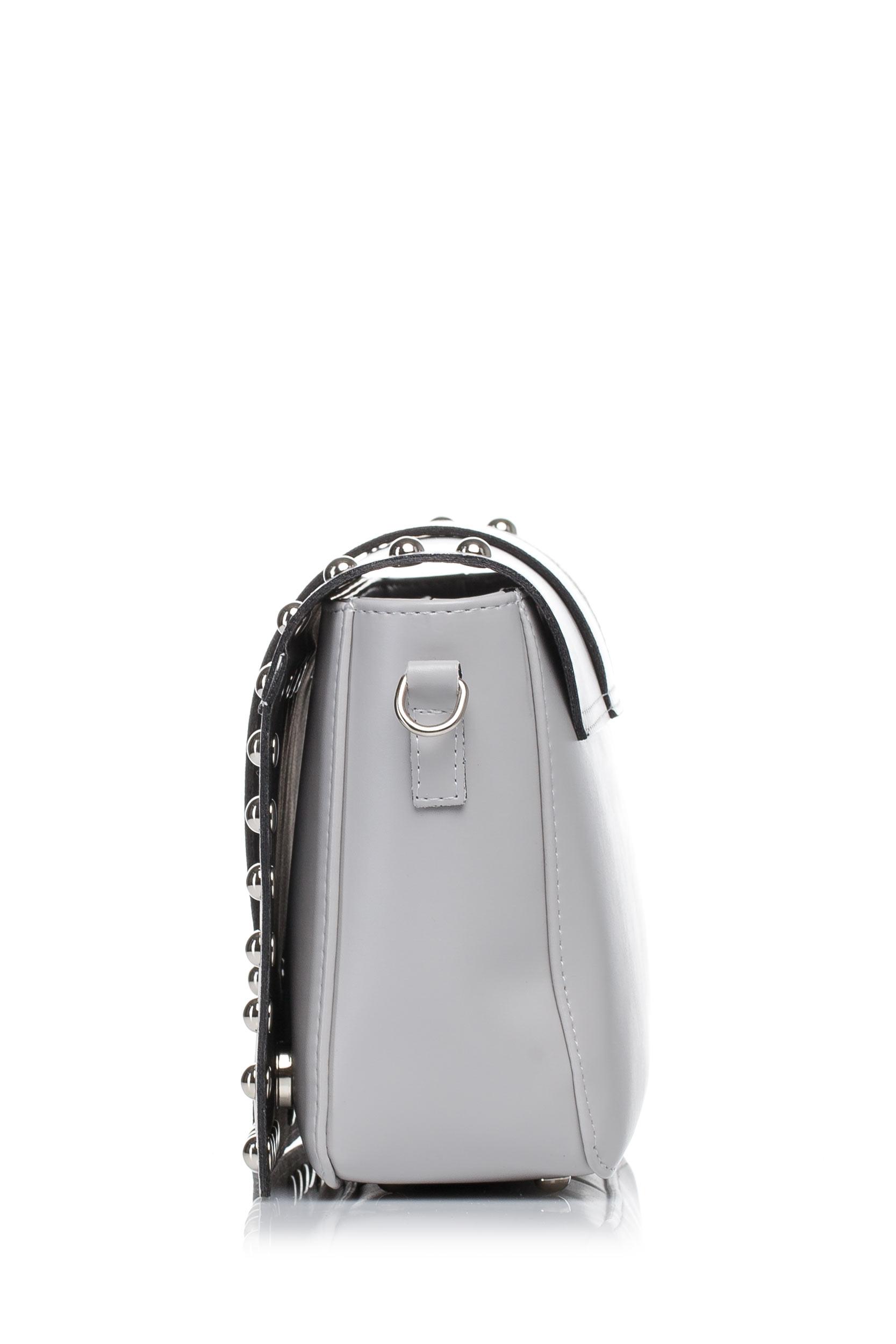 CM3575 Damska torebka z ozdobnymi nitami - szara