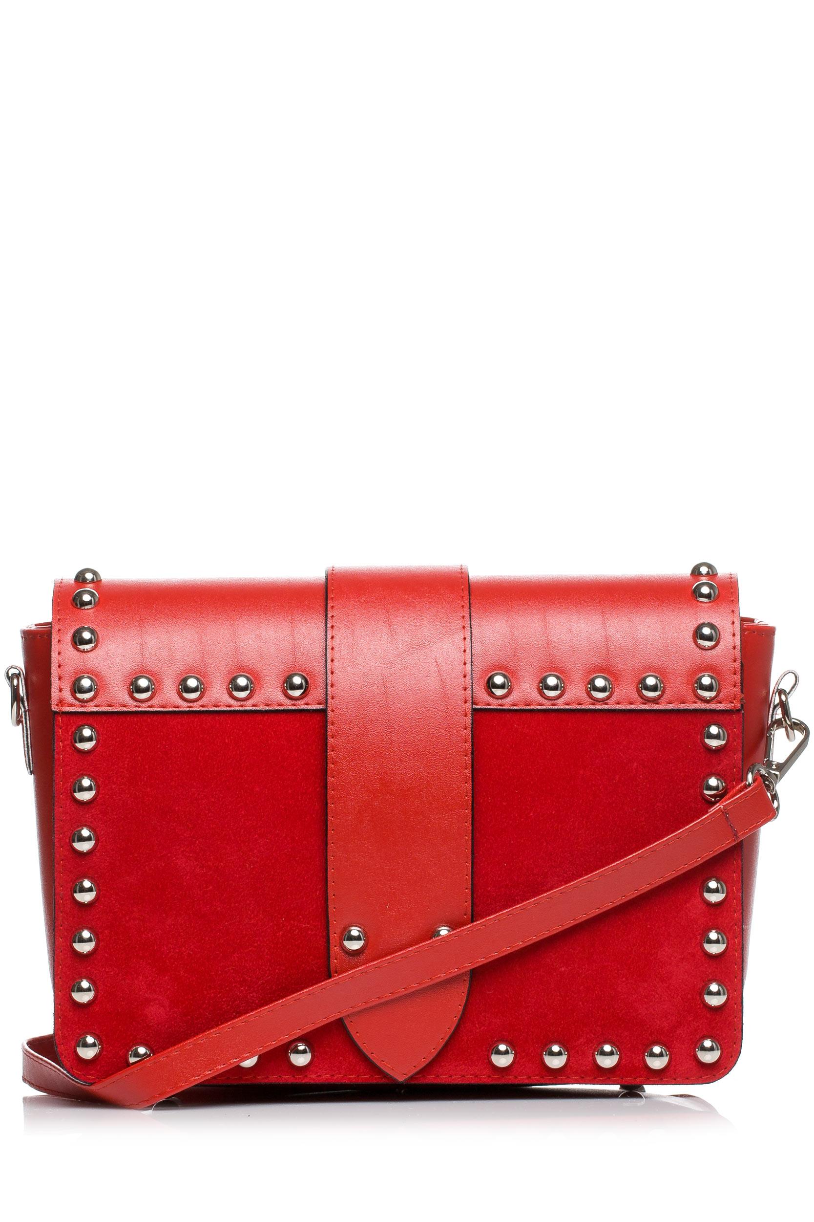 CM3575 Damska torebka z ozdobnymi nitami - czerwona