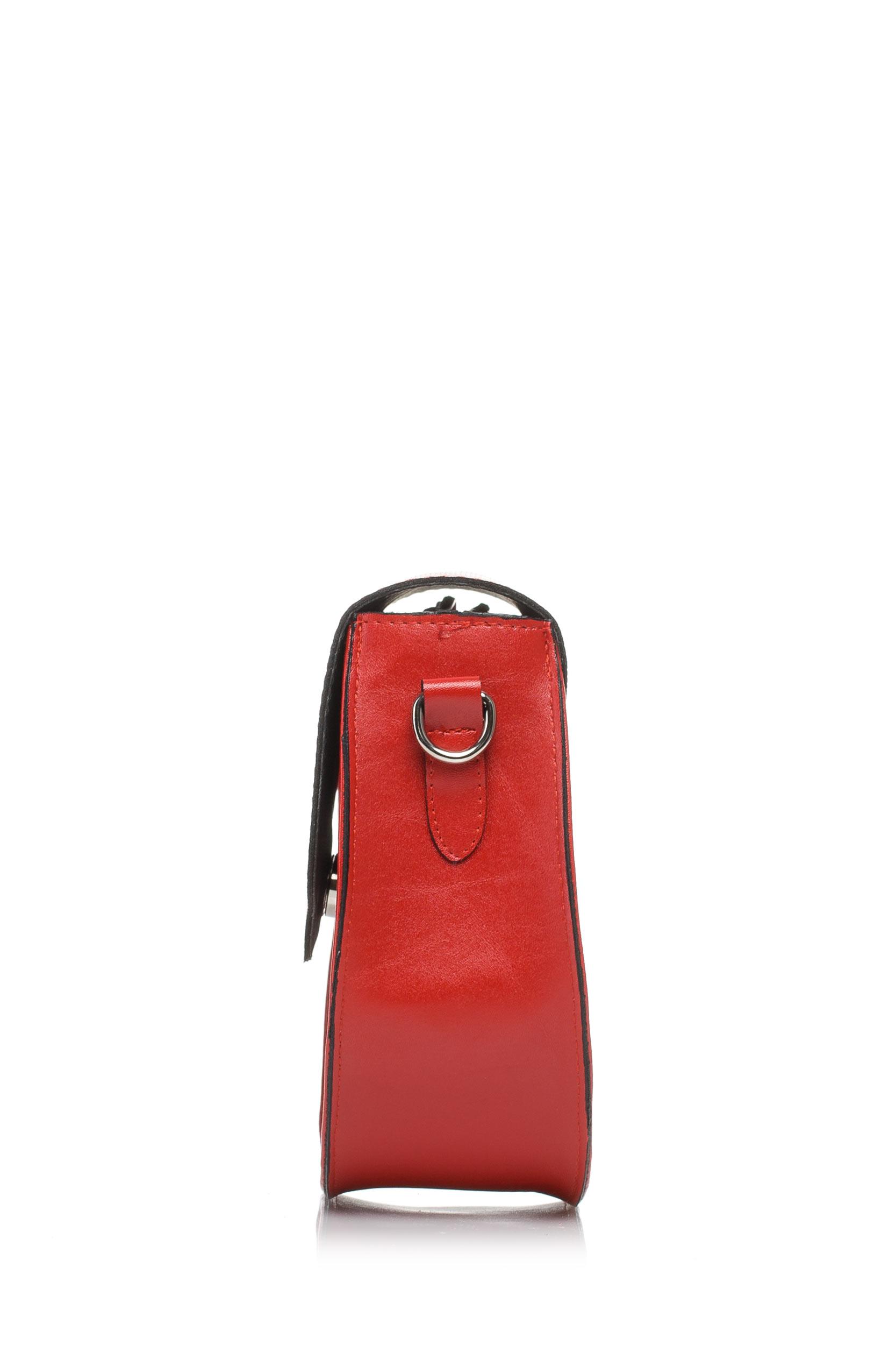 CM3579 Nowoczesna torebka damska - czerwona