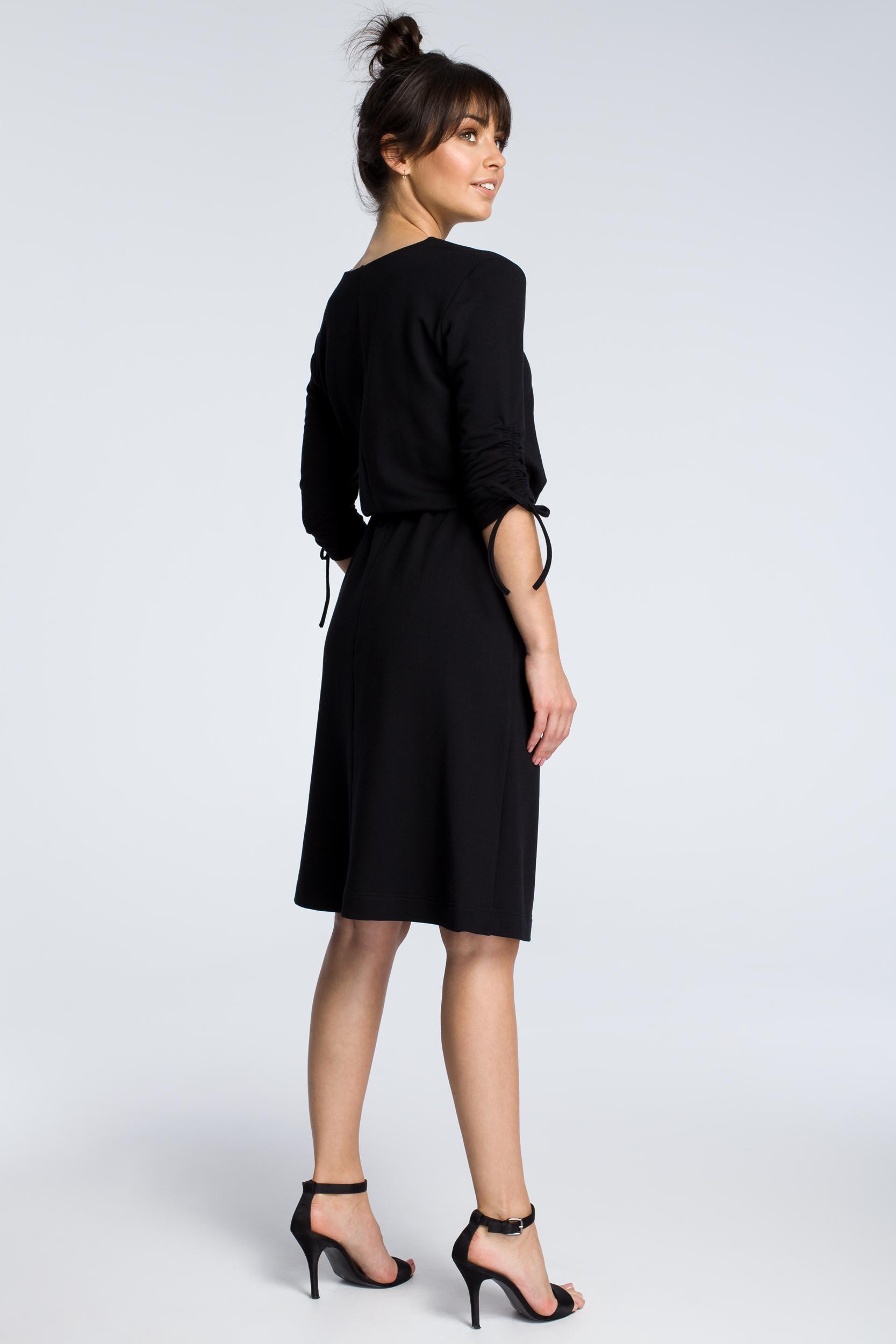 CM3605 Sukienka z podciąganymi rękawami - czara