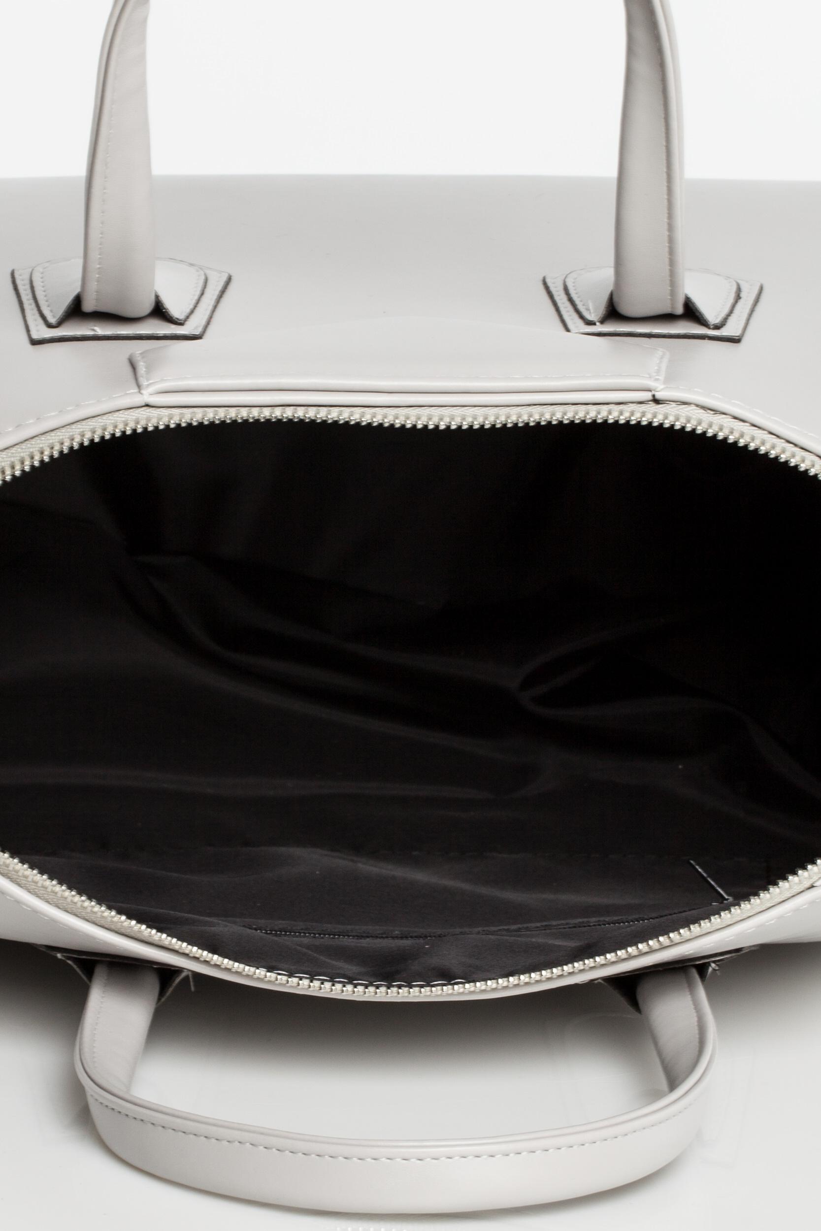 CM3569 Torebka typu kuferek do ręki - szara