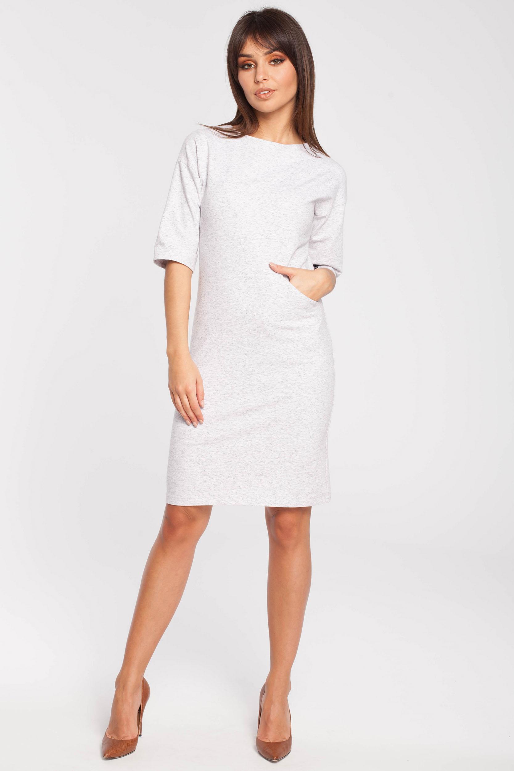 CM2783 Dresowa sukienka biurowa - stracciatella