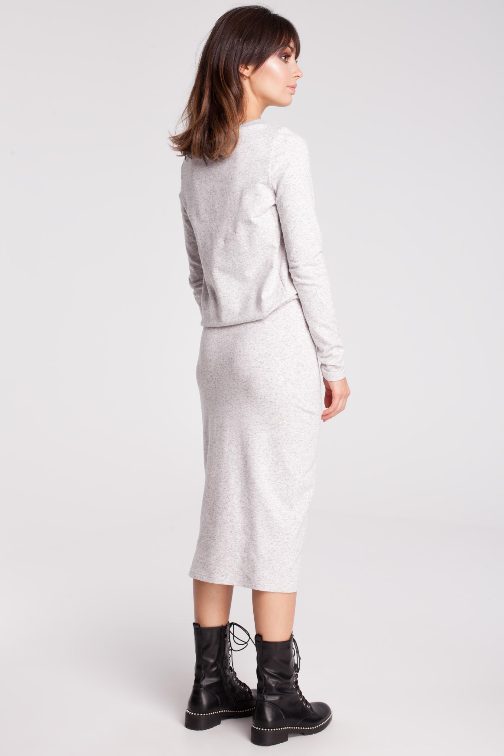 CM2874 Wygodna dresowa sukienka - stracciatella