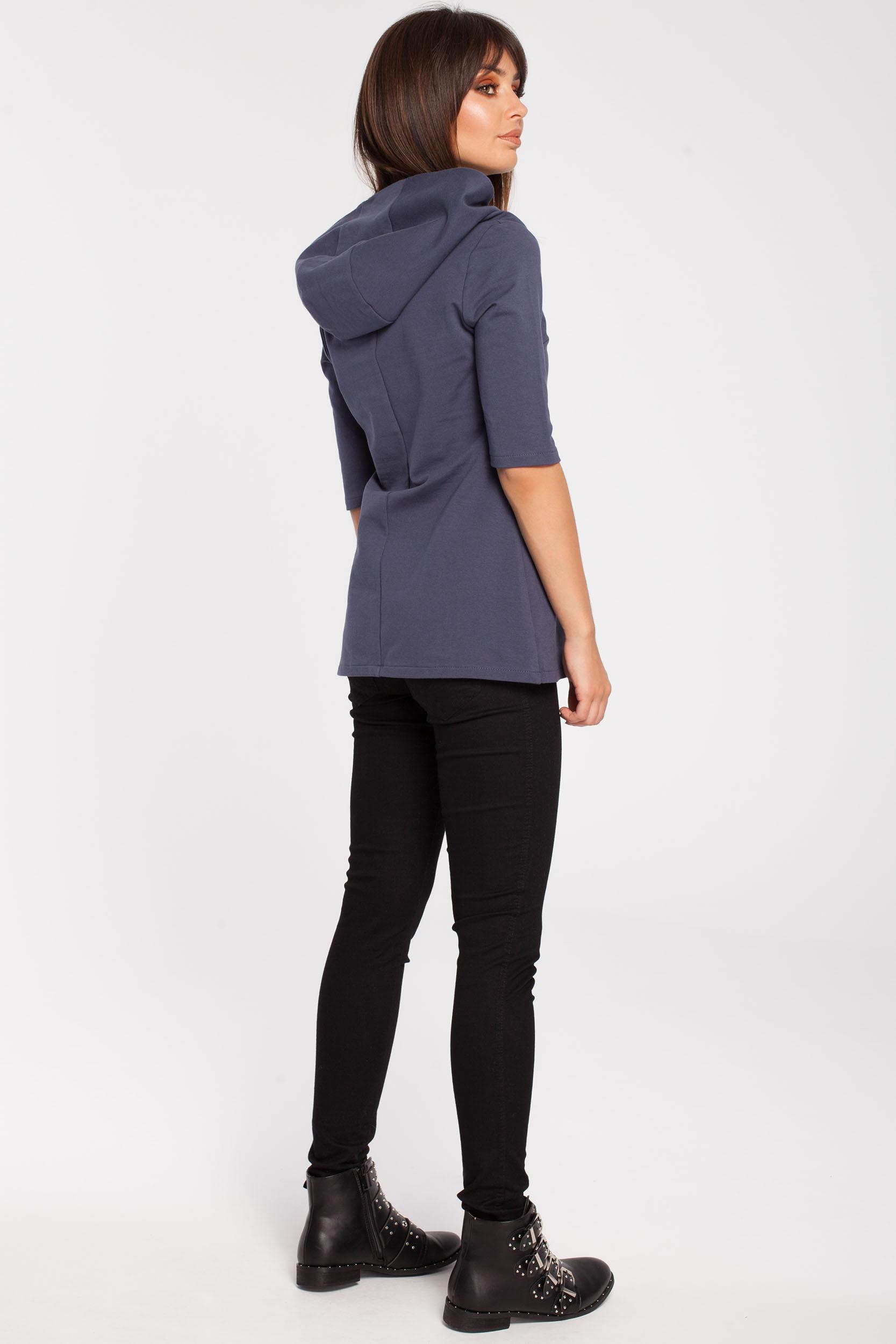 CM2878 Stylowa bluza z kapturem - niebieska