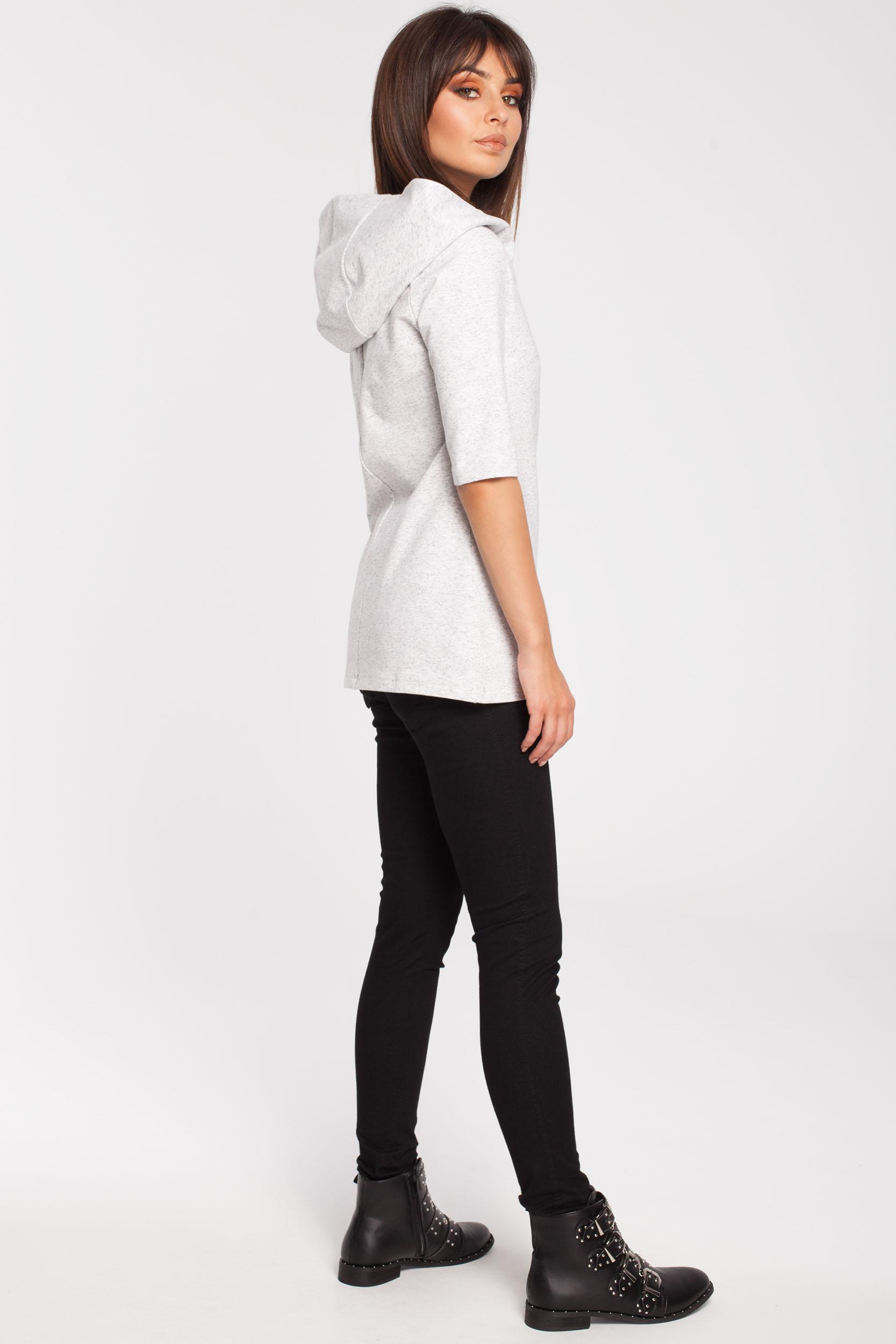 CM2878 Stylowa bluza z kapturem - stracciatella