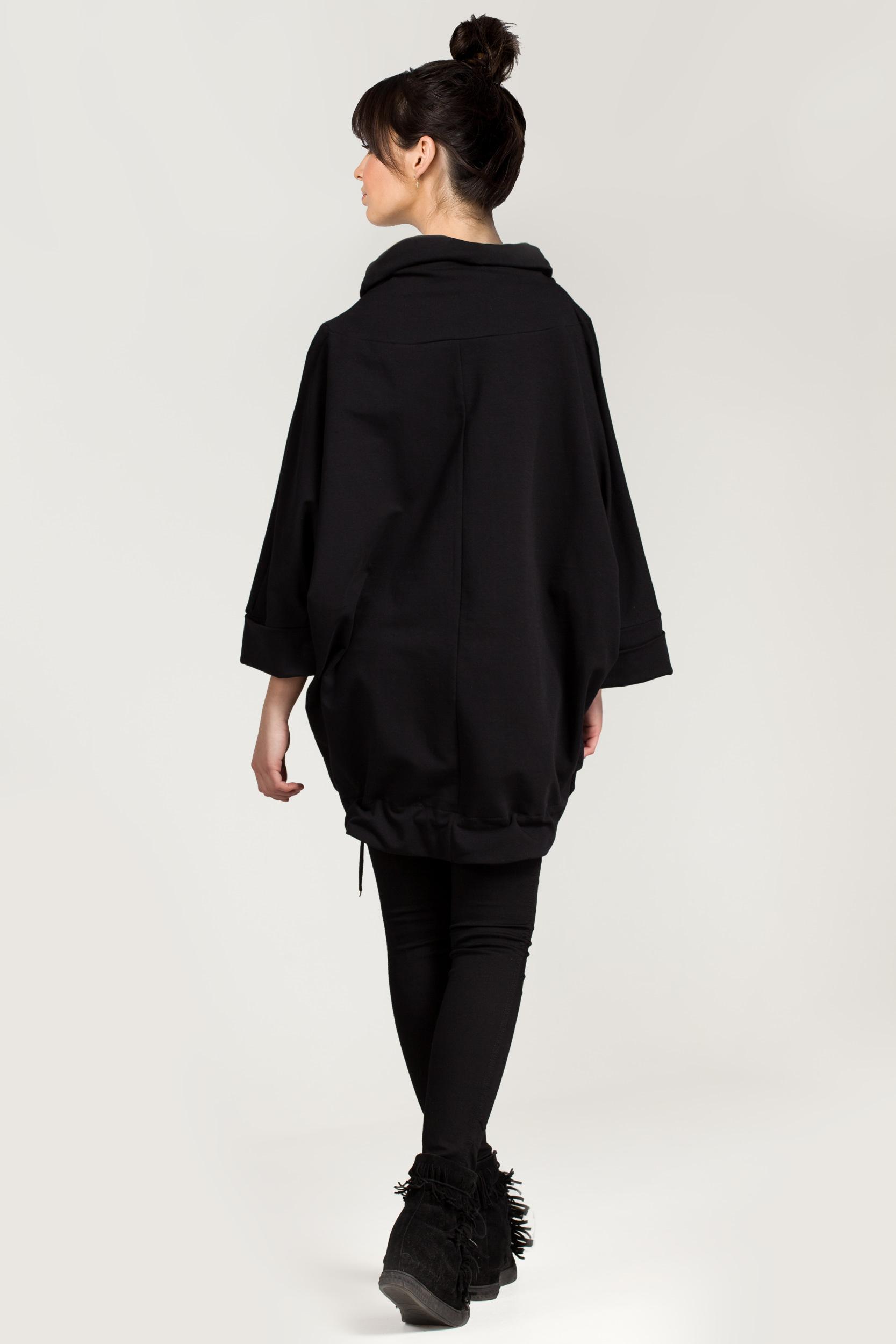 CM2879 Uniwersalna bawełniana tunika - czarna