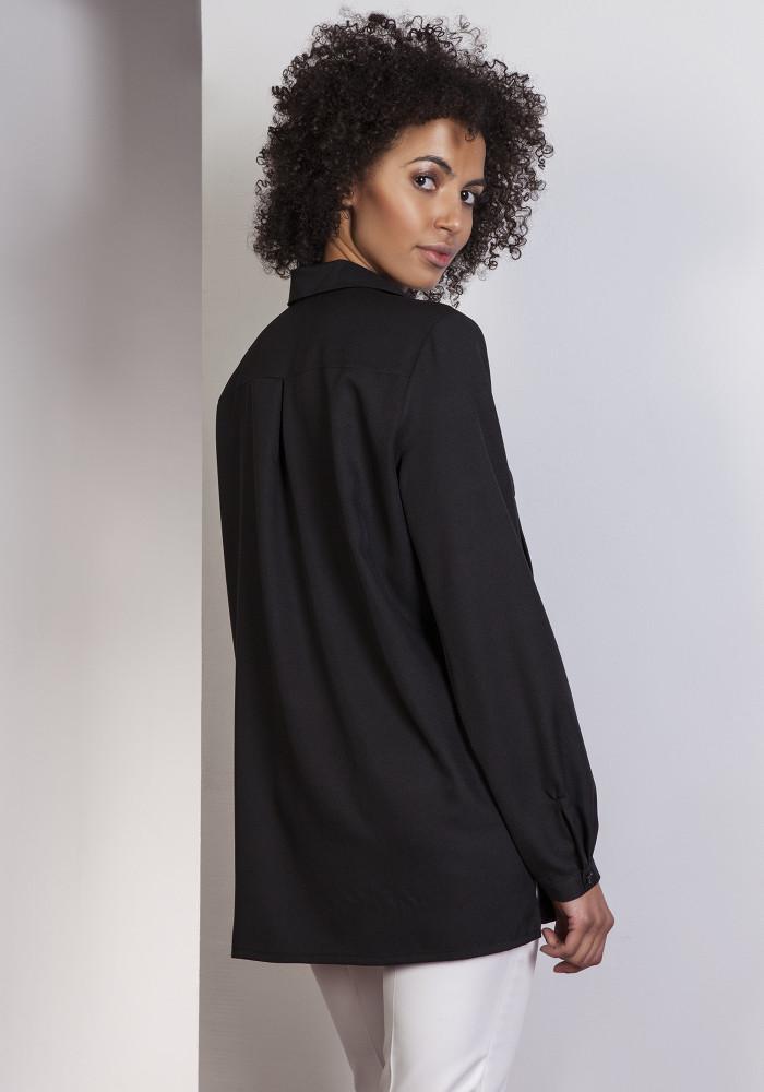 CM3648 Elegancka koszula oversize - czarna
