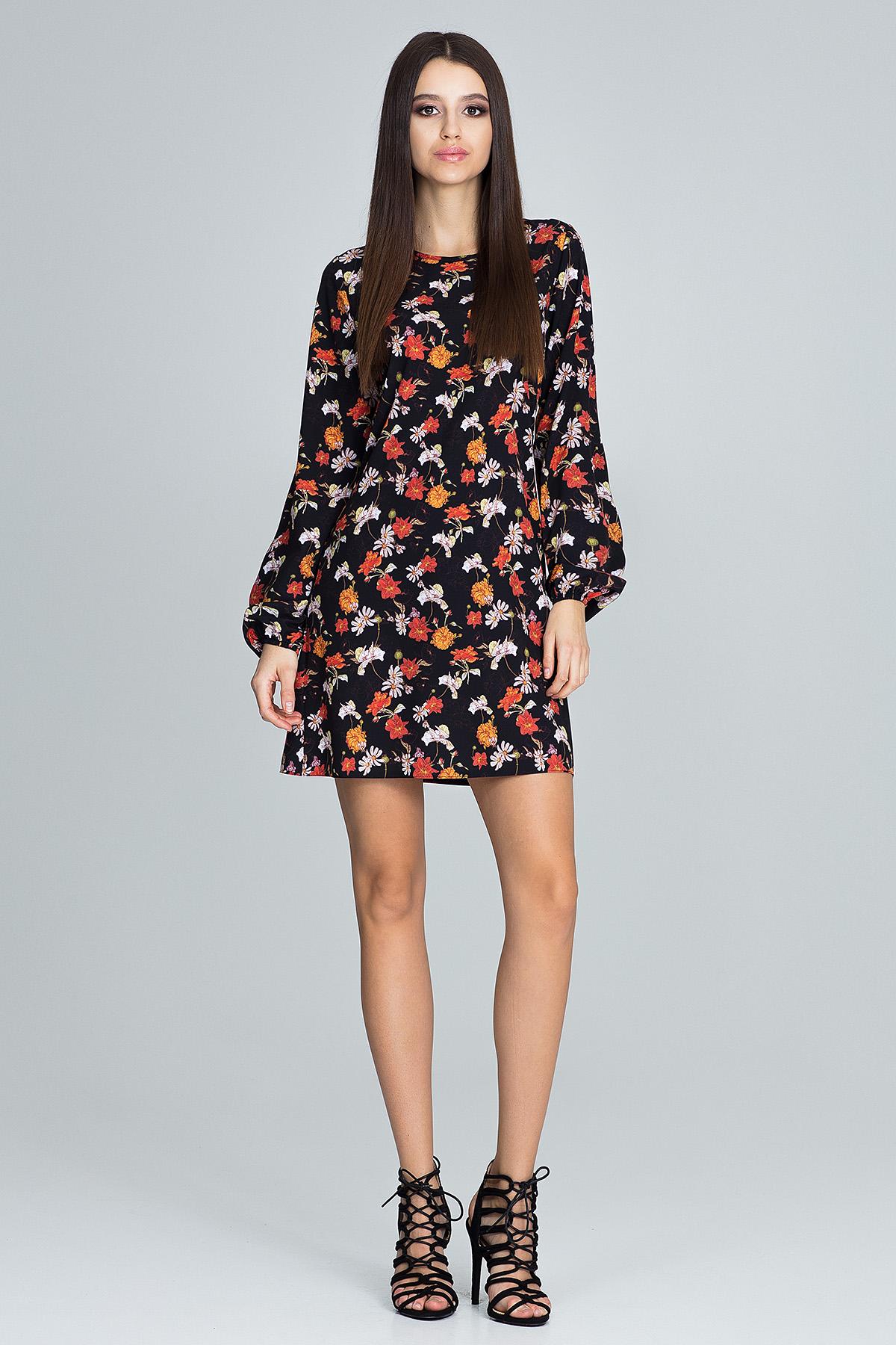 CM3662 Prosta sukienka w kwiaty - wzór 82