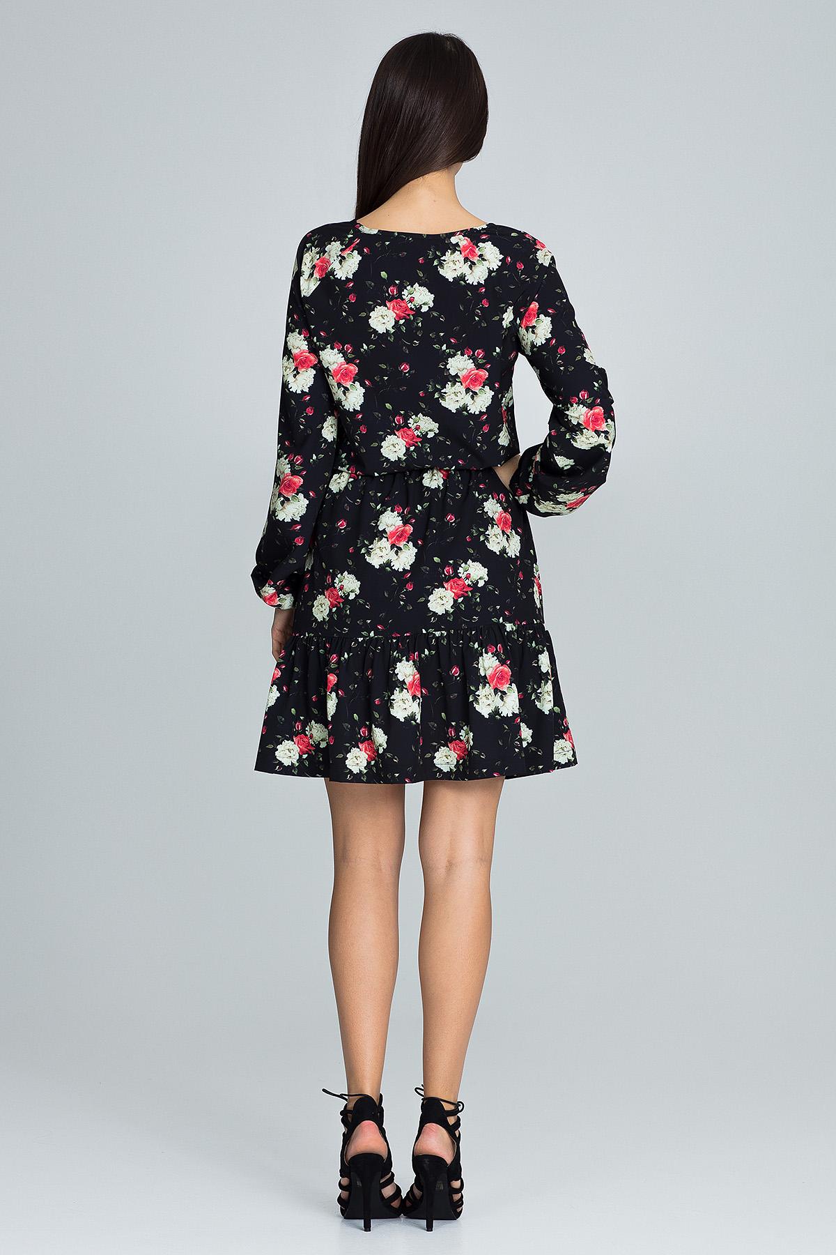 CM3663 Zwiewna sukienka mini z paskiem - wzór 75