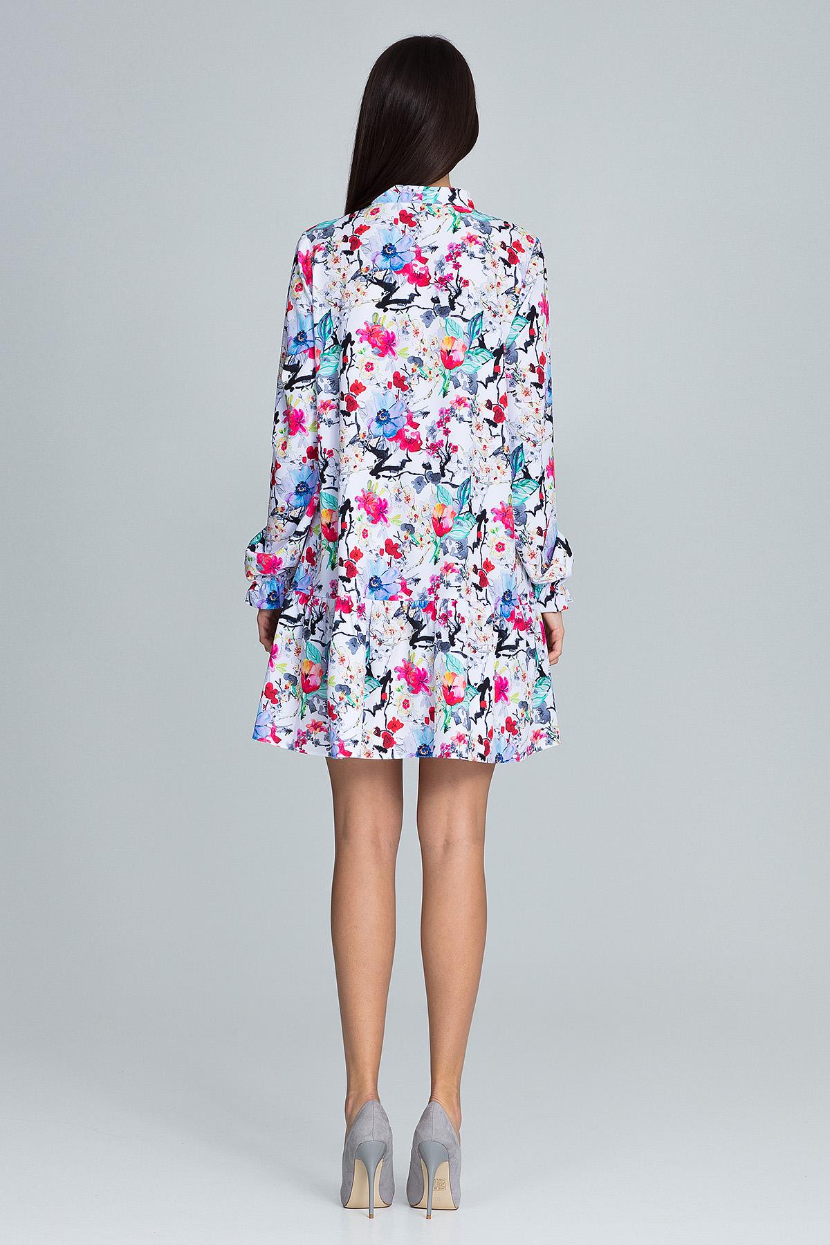CM3665 Modna sukienka z falbanką - wzór 78