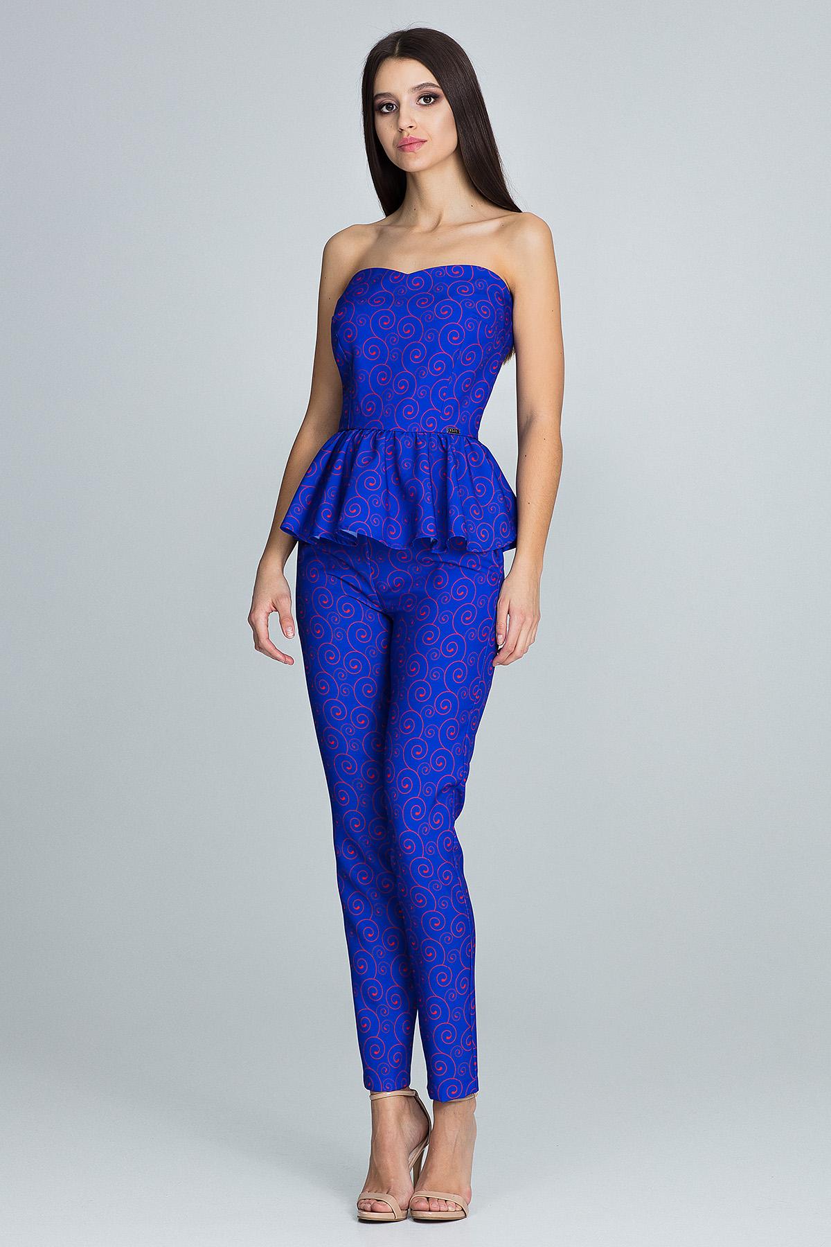 CM3672 Elegancki komplet - spodnie z gorsetem - wzór 85