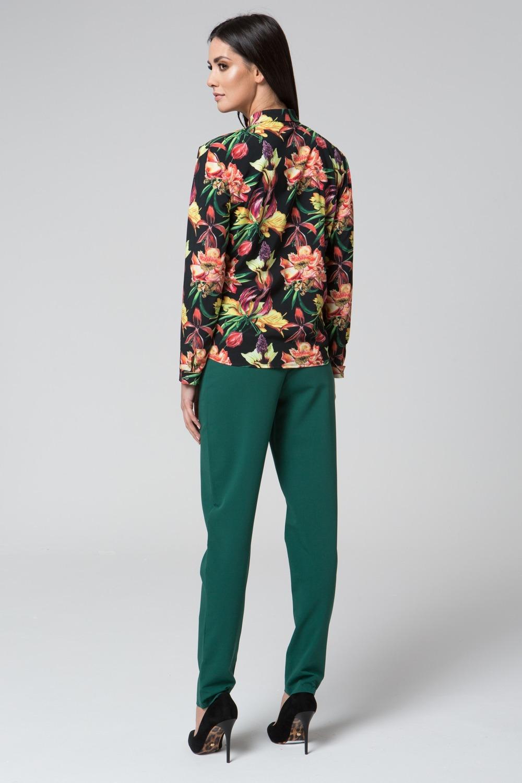 CM3683 Kobieca bluzka koszulowa - ciemny nadruk