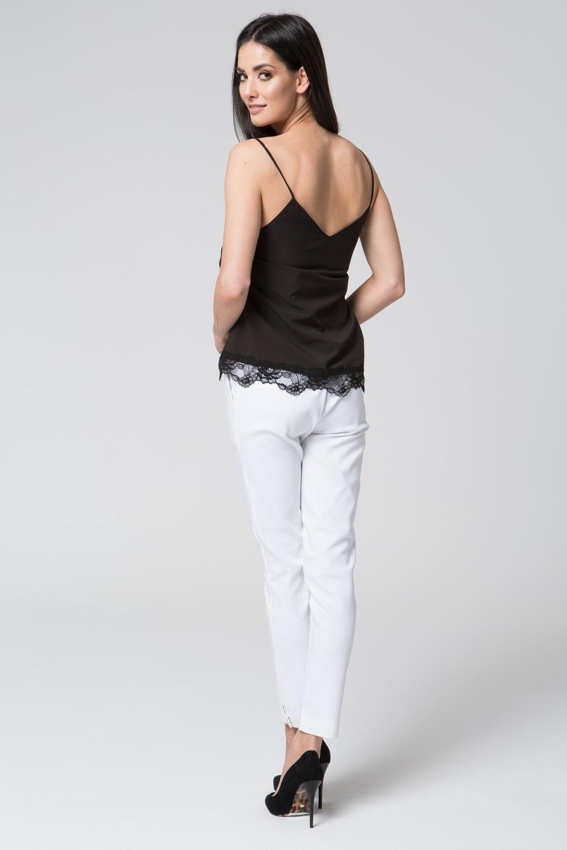 CM3684 Zwiewna bluzka bez rękawów - czarna