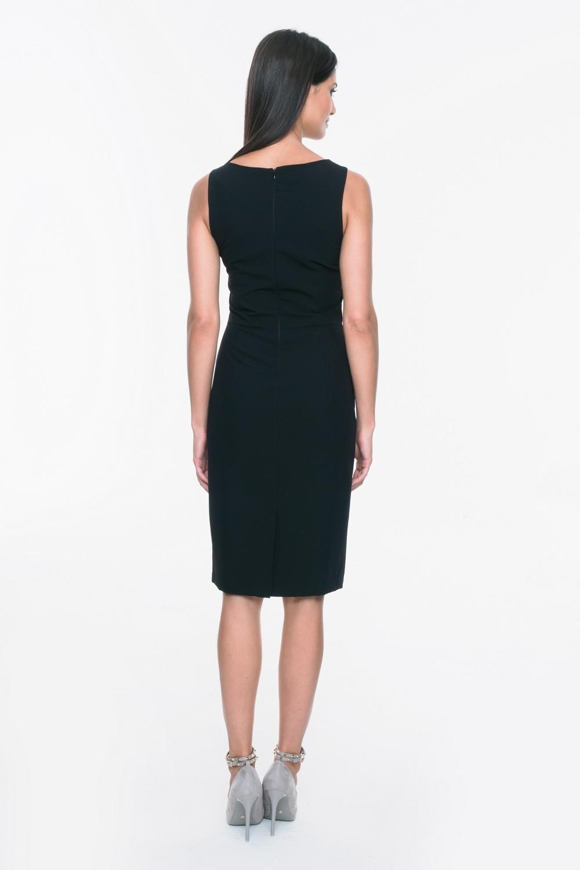 CM3700 Elegancka sukienka ołówkowa bez rękawów - czarna