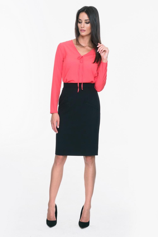CM3707 Elegancka ołówkowa spódnica - czarna