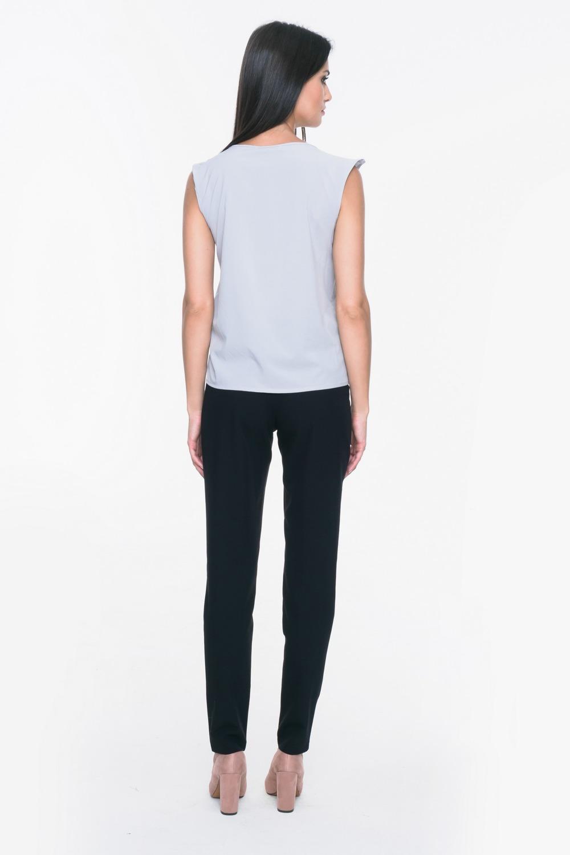 CM3713 Zwiewna bluzka bez rękawów - szara