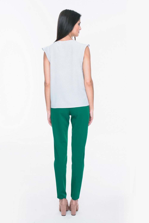 CM3718 Eleganckie spodnie materiałowe - zielone