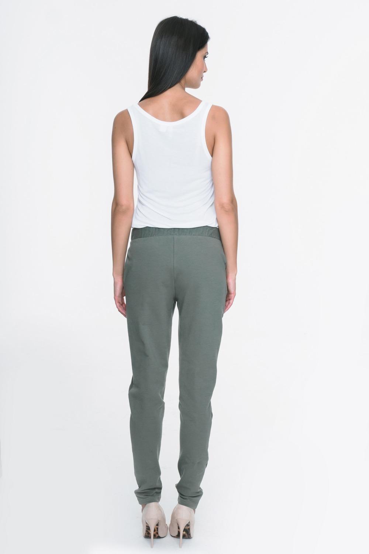 CM3719 Spodnie dresowe z kieszeniami i lampasami - khaki