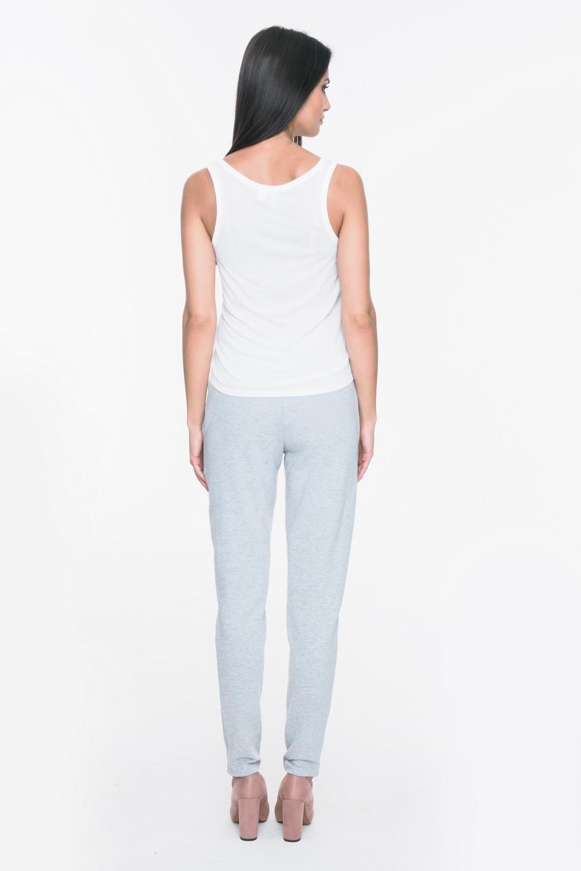 CM3719 Spodnie dresowe z kieszeniami i lampasami - szare