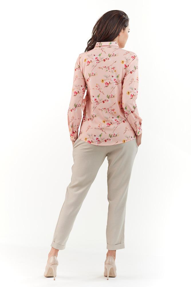 CM3750 Koszula z długim rękawem i kołnierzykiem - różowa